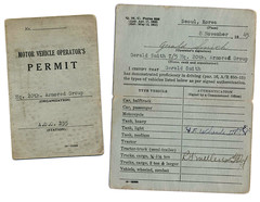 Jerry's motor vehicle permit, 20th Armored Group