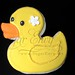 Rubber Ducky Duckie Duck Baby Shower Decorated Sugar Cookie Favor