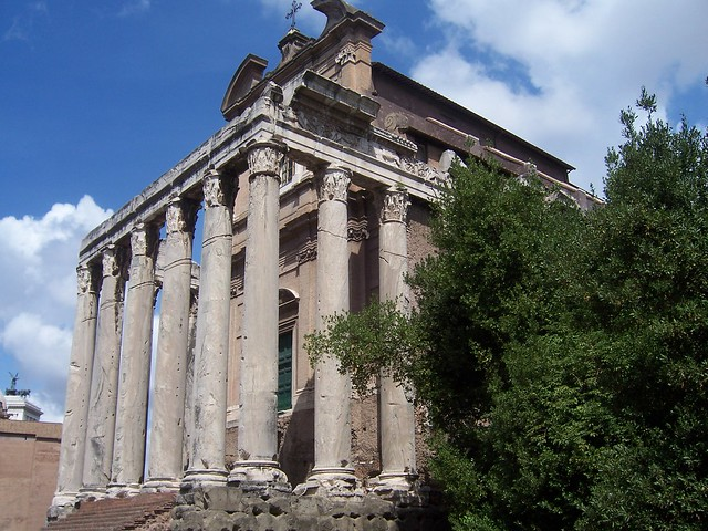 Temple of Divus Antoninus Pius and Diva Faustina, Upper Via Sacra, Rome