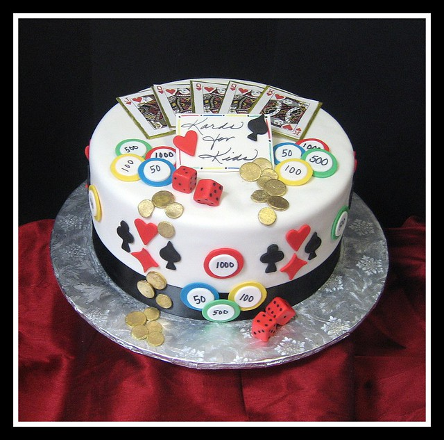 Poker Birthday Cake Designs