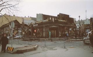 Storbrann i Dronningens gate, Nordre gate og Thomas Angells gate (2002)