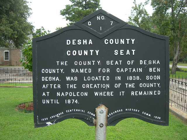 Desha County Historic Marker  Flickr  Photo Sharing