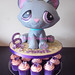 Littlest Pet shop cake and cupcakes display by Crafty Confections