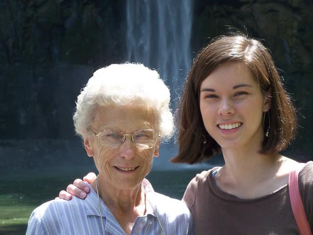 grandma & anna @ taughannock falls