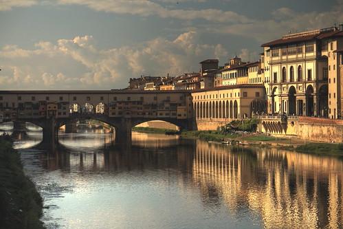 italien italy reflections florence tuscany firenze arno pontevecchio florenz toskana vanagram 5dmkii