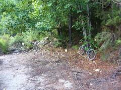Accès RG au ruisseau de Sainte-Lucie : fin de la piste pour les 4x4 et VTT et démarrage de la sente