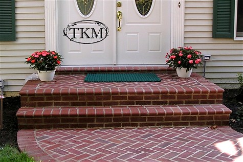 Mortared Brick Walk With Bullnose Brick On Porch Flickr