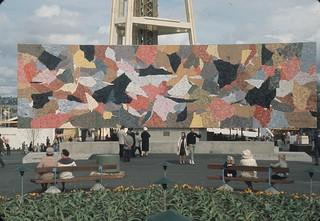Horiuchi mural at World's Fair, 1962
