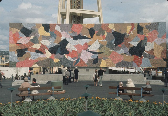 Horiuchi mural at world 39 s fair 1962 flickr photo sharing for Concerts at the mural seattle