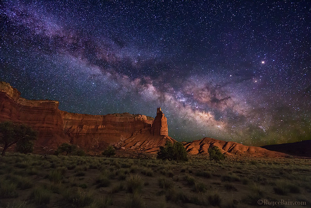 Milky Way over Chimney Rock