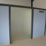 Puerta de vidrio vidreflou