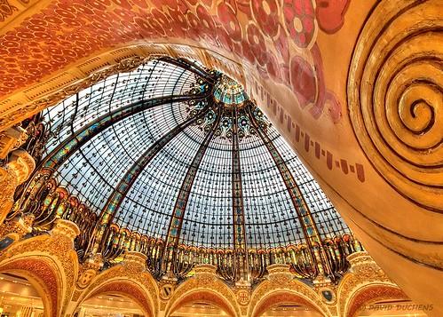 paris france architecture nikon curves departmentstore galerieslafayette glassroof dôme d300 grandmagasin verrière courbes bratanesque