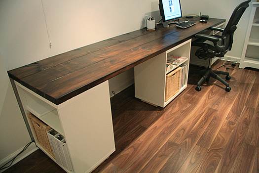 Diy make your own desk lindsay stephenson Diy home office desk plans