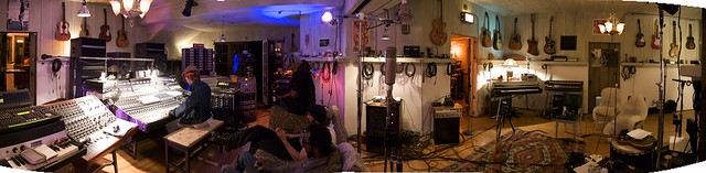 studio pano 1 - My studio in L.A., cozy and full of instrument