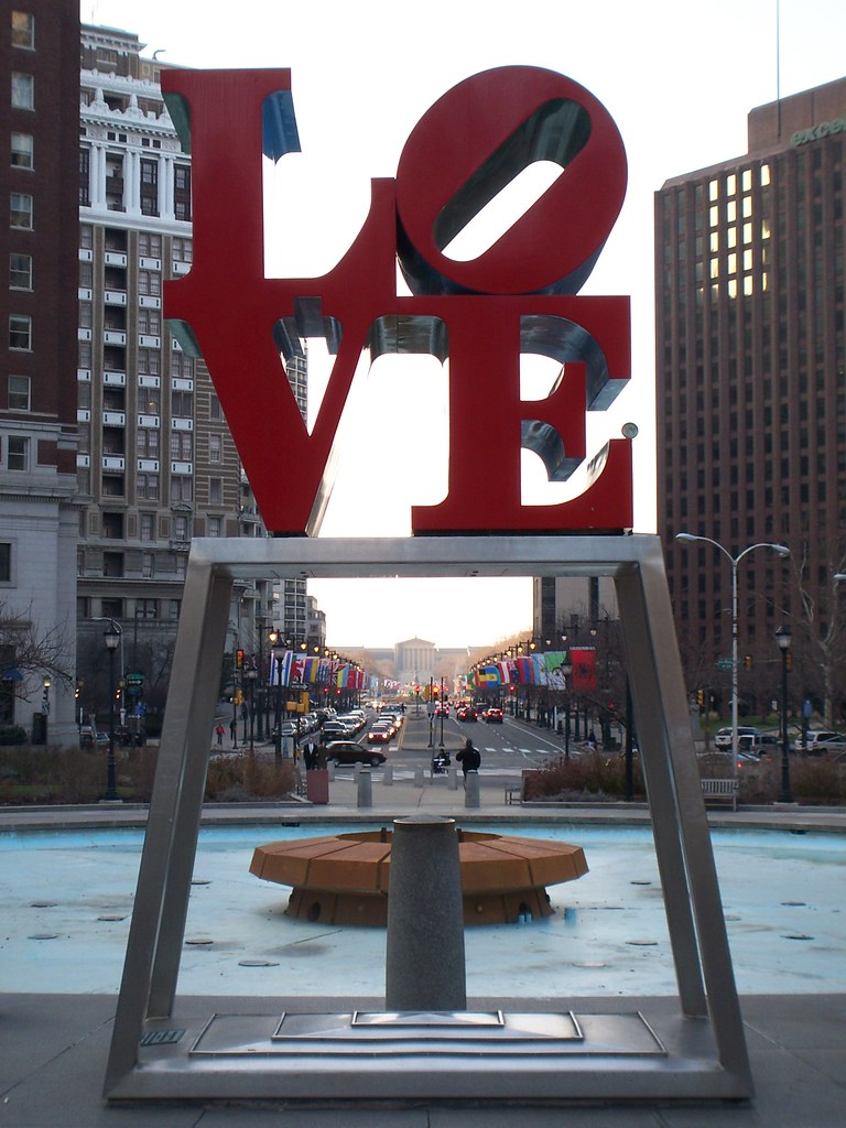 love park in the winter