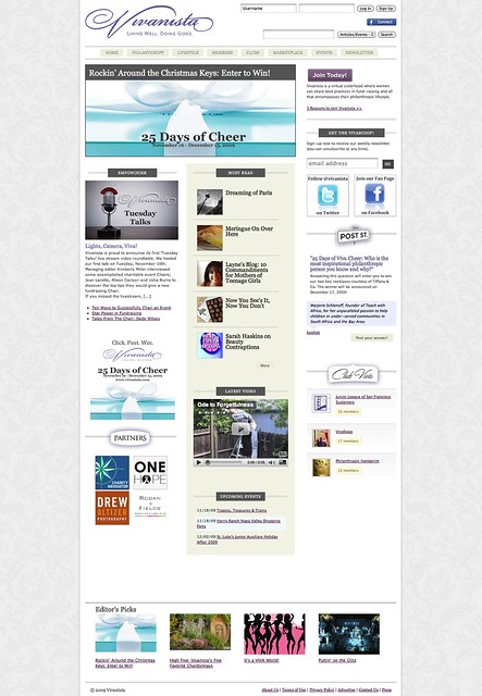 Vivanista homepage