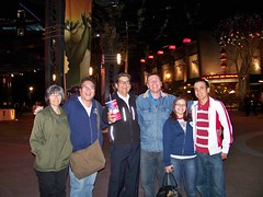 "Francie, Me, Larry, Kurtie, Ashley and Irvin after the Cast Member Screening of ""The Princess and the Frog"""