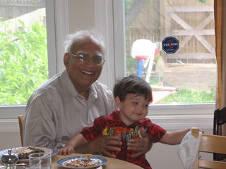 Mr. Shaikh and His Grandson, Zach
