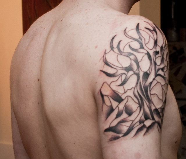 Stained Glass Tree Tattoo - Back