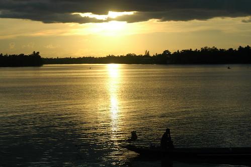 sunset water thailand