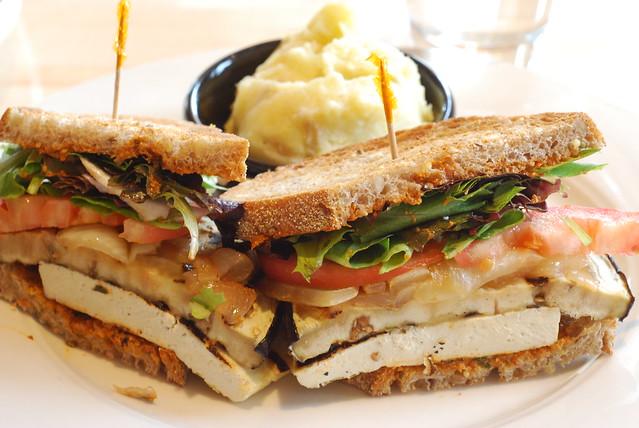 grilled eggplant & tofu sandwich @ cafe manna