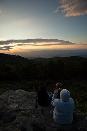 sunset mountains supperclub skylinedrive