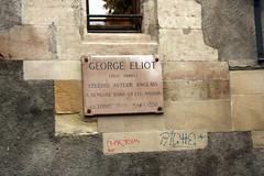 Photo of George Eliot white plaque