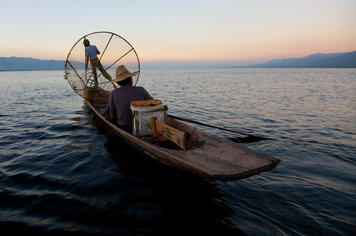 6617 Call it a day--Inle Lake , Myanmar
