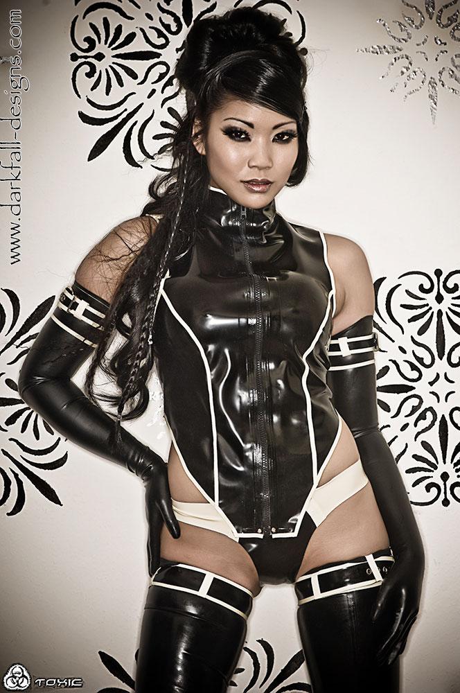 Asian fetish latex