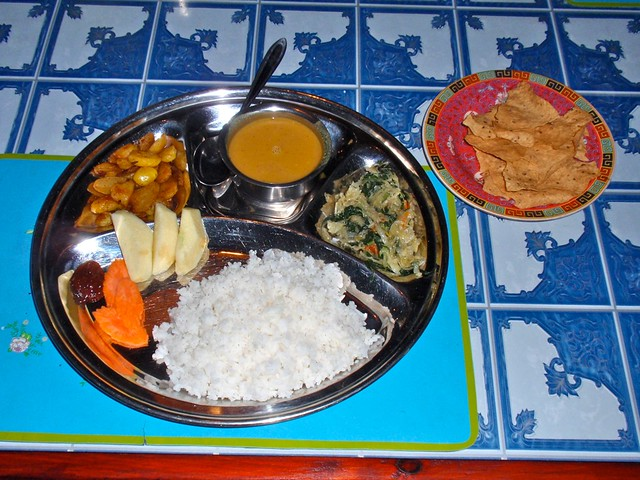Traditional Nepali Dinner by CC user 28705377@N04 on Flickr