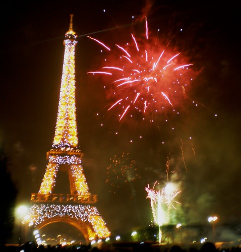 New Years Eve Fireworks at the Eiffel Tower