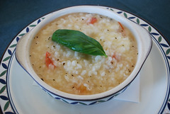 produce(0.0), corn chowder(1.0), risotto(1.0), food(1.0), dish(1.0), congee(1.0), soup(1.0), cuisine(1.0),