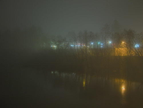 county fog night reflections river maine kennebec winslow a470 sebasticook regionwide