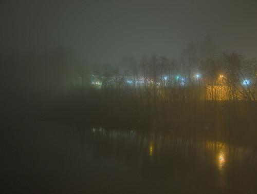 county fog night reflections river maine kennebec winslow a470 sebasticook regionwide