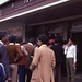 Queue at Bombay Train Station, India, 1982.