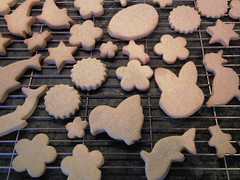 The problem with asking a two-year old what shape biscuits to make is that you end up with a lot of cutters to wash up.