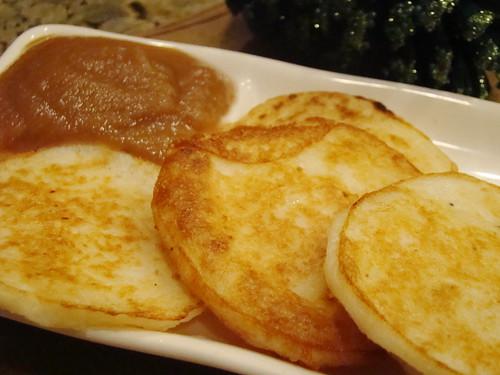 Potato Pancakes With Applesauce Potato Pancakes And Raspberry