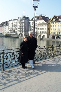 Liz & Gerald on the Footbridge