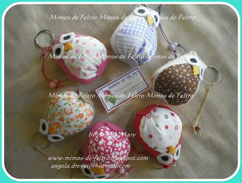 Corujinhas :) by ♥ Mimos de Feltro by Angela Mary® ♥