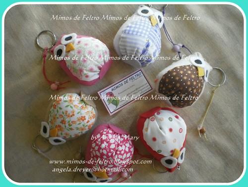 Corujinhas :) by ♥ Mimos de Feltro by Angela Mary® ♥