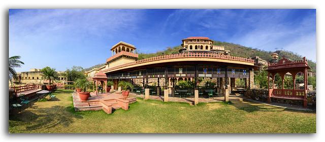 Panorama of Neemrana Fort Palace, Rajasthan, India
