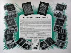 A film titling kit