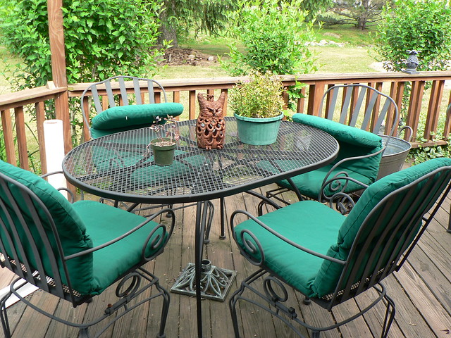 Cast Iron Patio Furniture With Cushion Flickr Photo Sharing