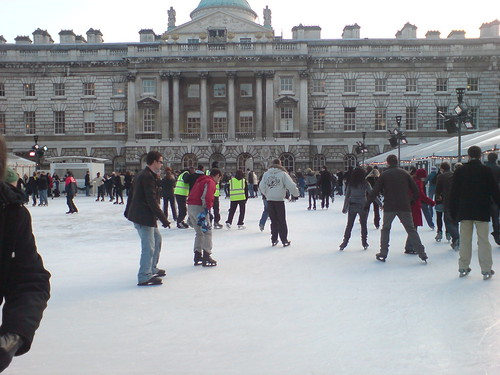 Ice skating @ Somerset House London England