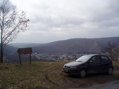 My FIAT Punto behind Revin