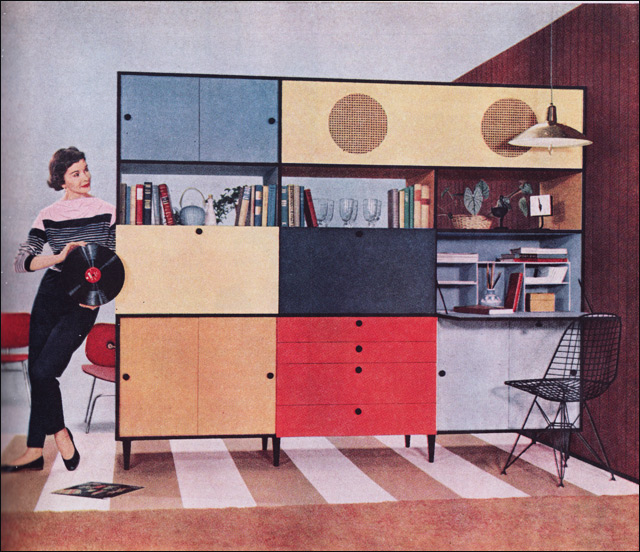 1955 Weldwood Entertainment Center