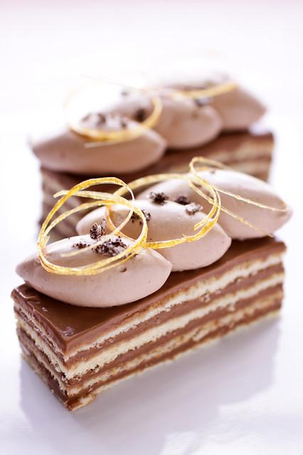 vanilla fleur de sel, caramel and chocolate dobos torte | Flickr ...