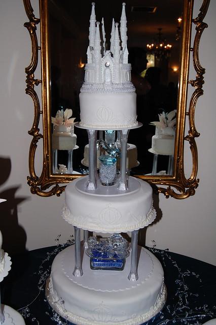 Fairytale Wedding Cake Three Tower Saints