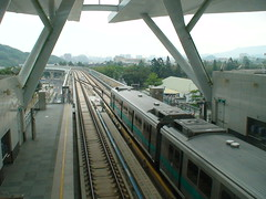 train station, metropolitan area, vehicle, train, transport, rail transport, public transport, rolling stock, overpass, track, rapid transit,