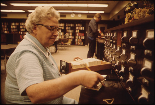 Librarian at the Card Files at Senior High School …